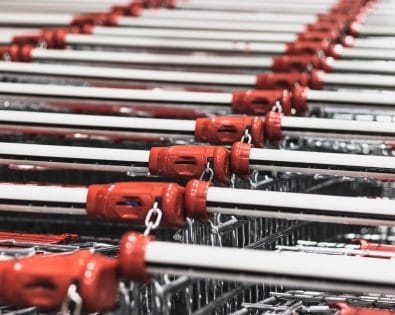 Several solutions for the disinfection of shopping carts